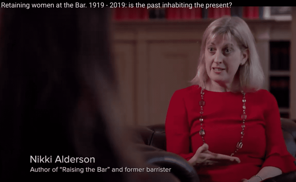 Retaining women at the Bar. 1919 – 2019: is the past inhabiting the present?