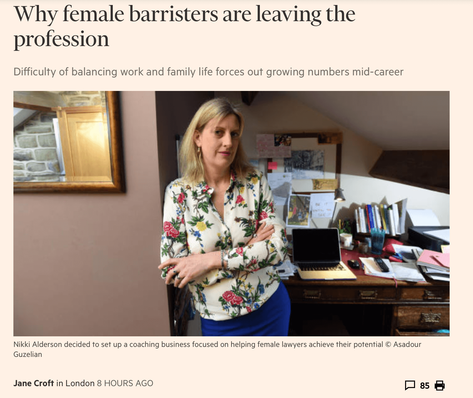 why female barristers are leaving the profession